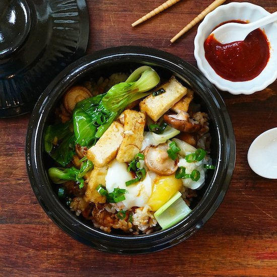 Stone Pot Rice Bowl With Vegetables