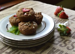 Strawberry and Sunflower Muffins