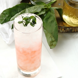 Strawberry Basil and Peach Cocktail Recipe