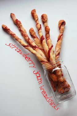 Strawberry Jam Breadstick