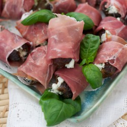 Stuffed Dates with Proscuitto