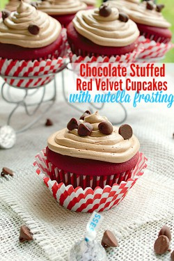 Stuffed Red Velvet Cupcakes