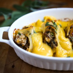 Stuffed Shells w/ Pumpkin Sauce
