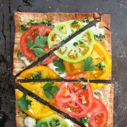 Summer Tomato Flatbread Pizza