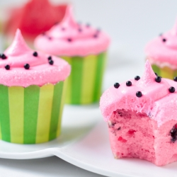 Sweet Watermelon Cupcakes