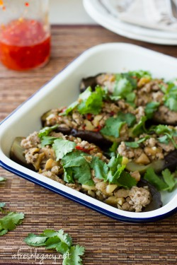 Szechwan Pork Stuffed Eggplant Recipe