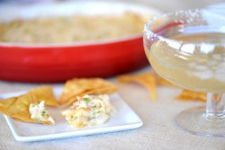 Tequila Green Chili Crab Dip