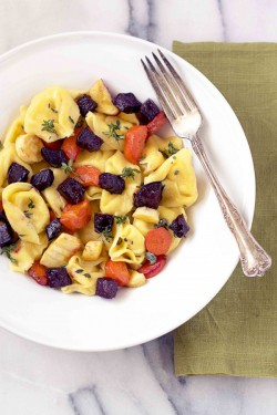 Tortellini with Roasted Vegetables