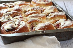 Triple Berry Breakfast Buns
