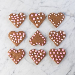 Triple Ginger Valentine Hearts Cookies Recipe