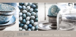 True Blue Natural Easter Egg Dyeing