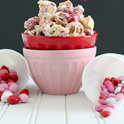 Valentines Day White Chocolate Cereal Chex Mix Recipe
