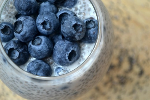 Vanilla Blueberry Chia Seed Pudding