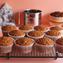 Vegan Whole Wheat Raisin Bran Muffins