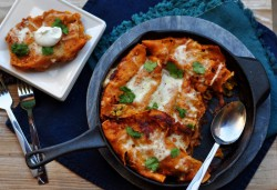Vegetable Enchiladas with Chipotle Beer Sauce Recipe