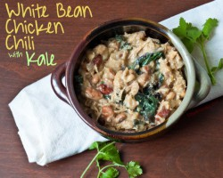 White Bean Chicken Chili w/ Kale