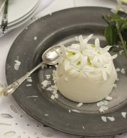 White Chocolate Jasmine Panna Cotta