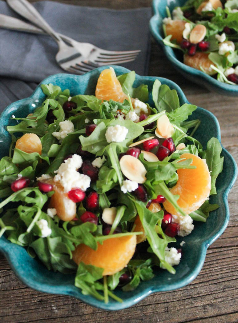 Arugula Salad with Pomegranate Clementines and Ricotta Recipe