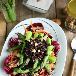 Asparagus Salad w/ Walnut Dressing