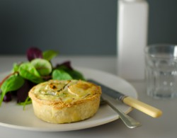 Bacon Leek Camembert Cheese Quiche Recipe