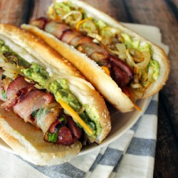Bacon-Wrapped Jalapeño Hotdogs