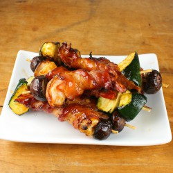 Bacon-Wrapped Shrimp Kebabs