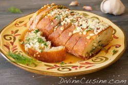 Baked Bread with Herb Butter