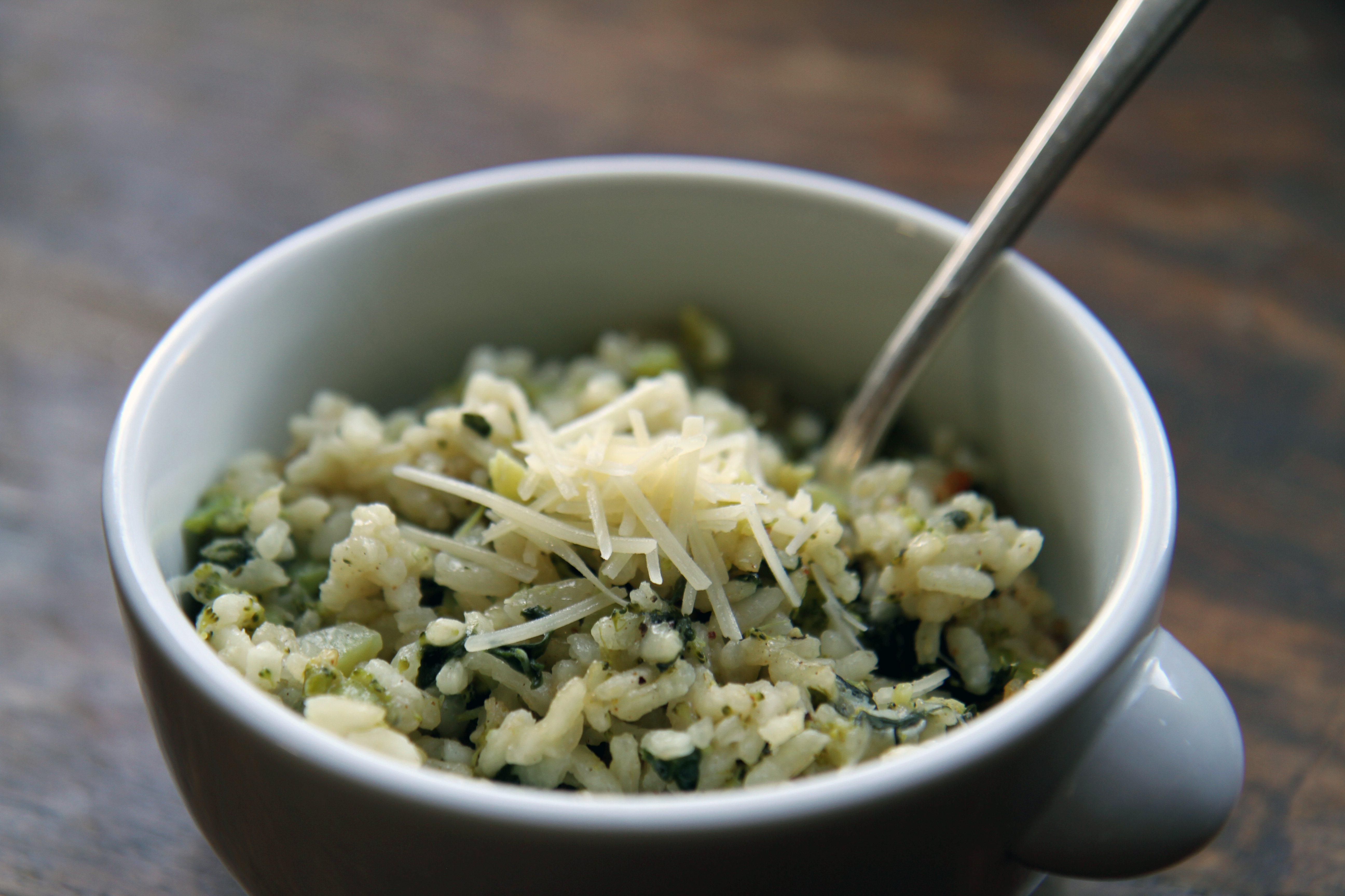 Baked Broccoli and Spinach Risotto