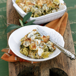 Baked Orecchiette with Broccoli Ra