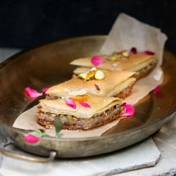 Baklava with phyllo from scratch