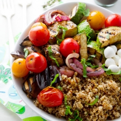Balsamic Grilled Veggies and Quinoa