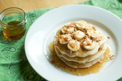 Banana Coconut Stuffed Pancakes