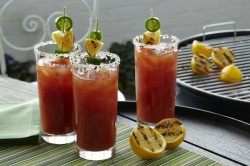Barbecued Bloody mary Cocktail Recipe