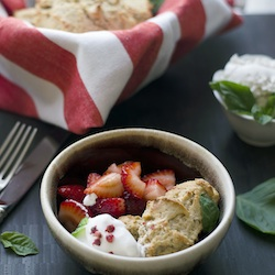 Basil Strawberry Shortcake
