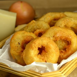 Beer Battered Onion Rings with Parmesan Cheese Recipe