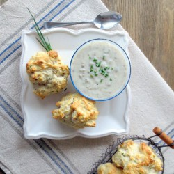 Beer Biscuits and Sausage Gravy