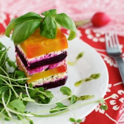Beet and Goat Cheese Mille-Feuille