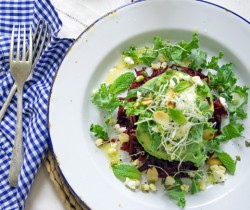 Beet and Kale Salad with Tahini Dressing Recipe