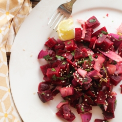 Beet Salad with Sesame and Herbs Recipe