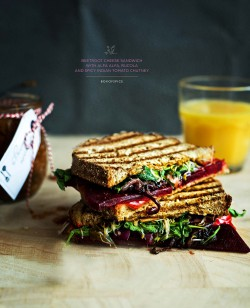 Beetroot Sandwich with a Spicy Tomato Chutney