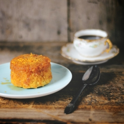 Black Peppercorn and Orange Steamed Pudding with Honey