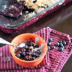 Blueberry Crisp Parfait