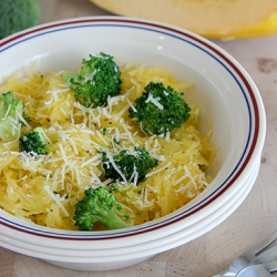 Broccoli and Spaghetti Squash