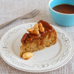 Brown Sugar Cake with Mixed Toffee