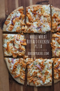 Buffalo Chicken Pizza on Whole Wheat Crust Recipe