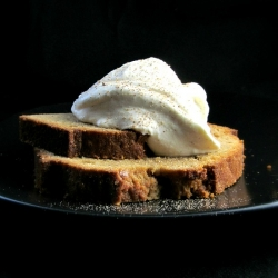 Buttered Rum Pound Cake with Eggnog Whipped Cream Recipe