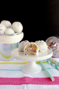 Cake Batter Cookie Dough Truffles