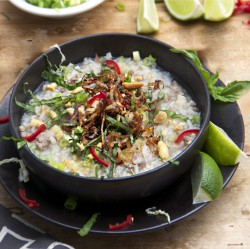 Cambodian Pork Rice Soup Recipe