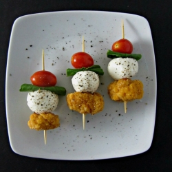 Caprese Popcorn Chicken Recipe