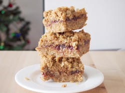 Caramel Peanut Butter and Jelly Bars Recipe
